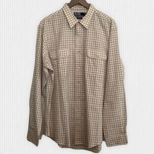 Polo Ralph Lauren Cream Check Button Up Men's XL